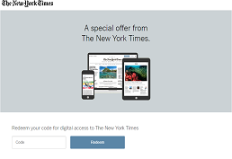Preview image of the NY Times login